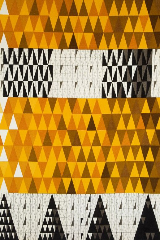 design-is-fine: Sven Markelius, textile design Pythagoras, 1953. NKs Textilkammare, Sweden. Via Jacksons.se. The architect Markelius met Gropius on visiting the bauhaus in 1927 and was highly impressed by the ideas of modernism.