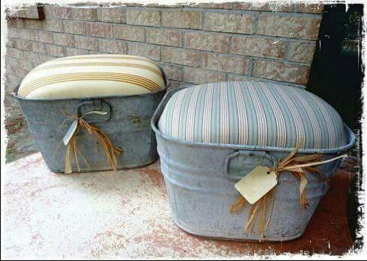 Wash tub ottomans