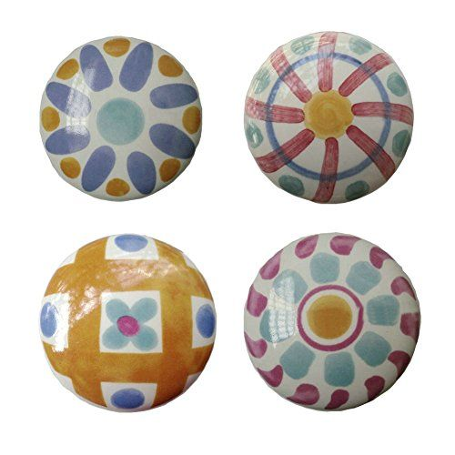 ceramic cabinet knobs flowers cheap set hand painted colorful knob drawer colors australia