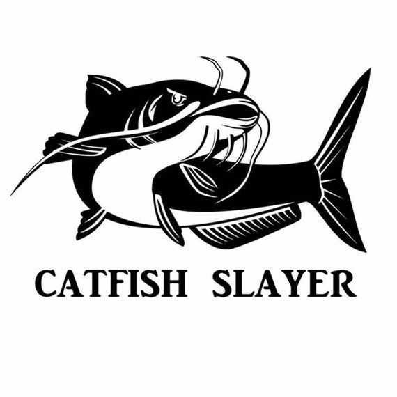 Blue fish fishing decal in 9 colors