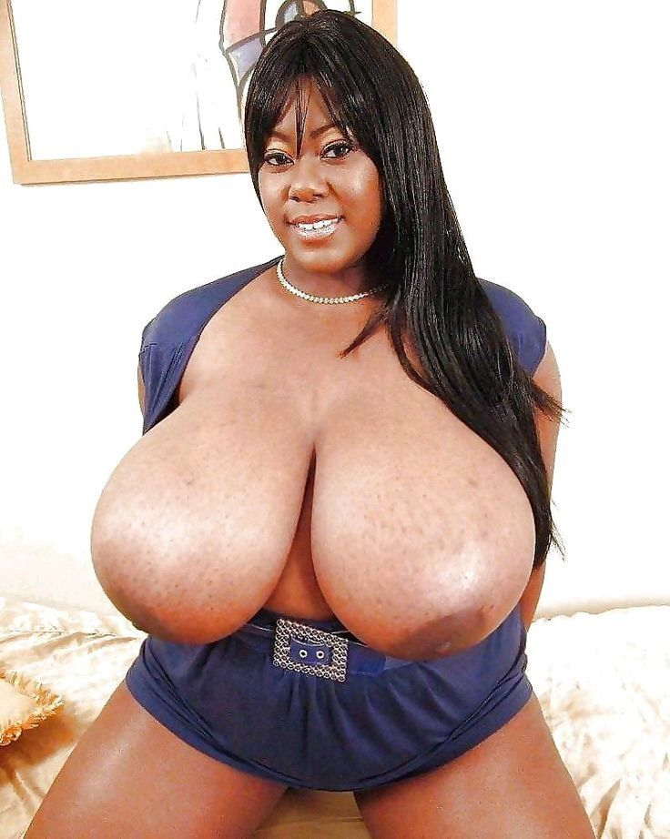 Busty ebony boobs