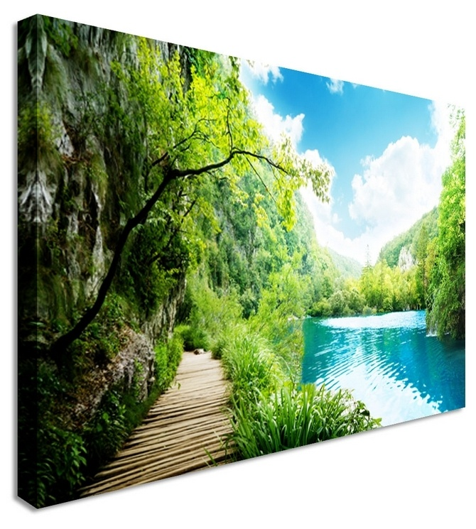 Lake board walk by landscape art canvas prints canvas art cheap prints by www
