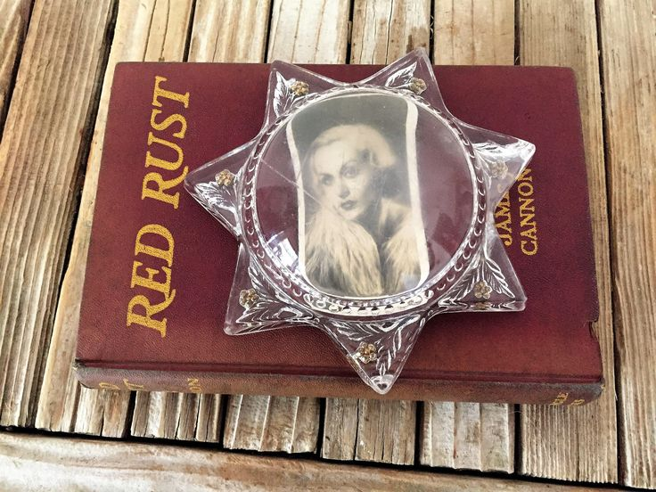 Antique Glass 7 Pointed Star Paperweight by NostalgicNuance on Etsy https://www.etsy.com/listing/524984429/antique-glass-7-pointed-star-paperweight