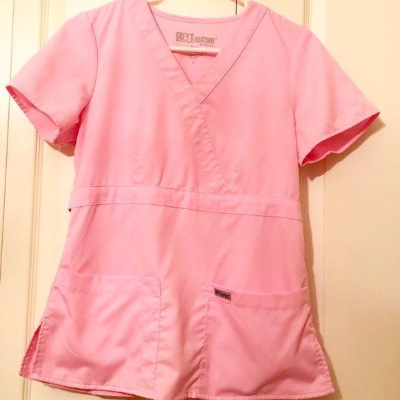 Grey's Anatomy Scrub Top Grey's Anatomy Scrub Top - light pink Grey's Anatomy Tops