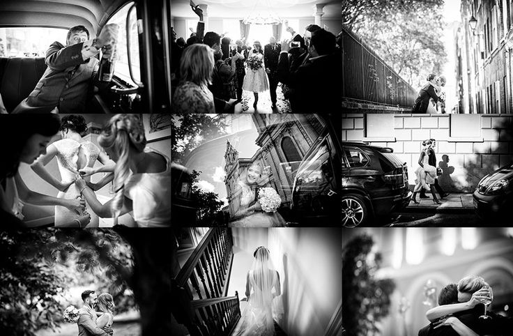 Black and white reportage wedding photography pricing