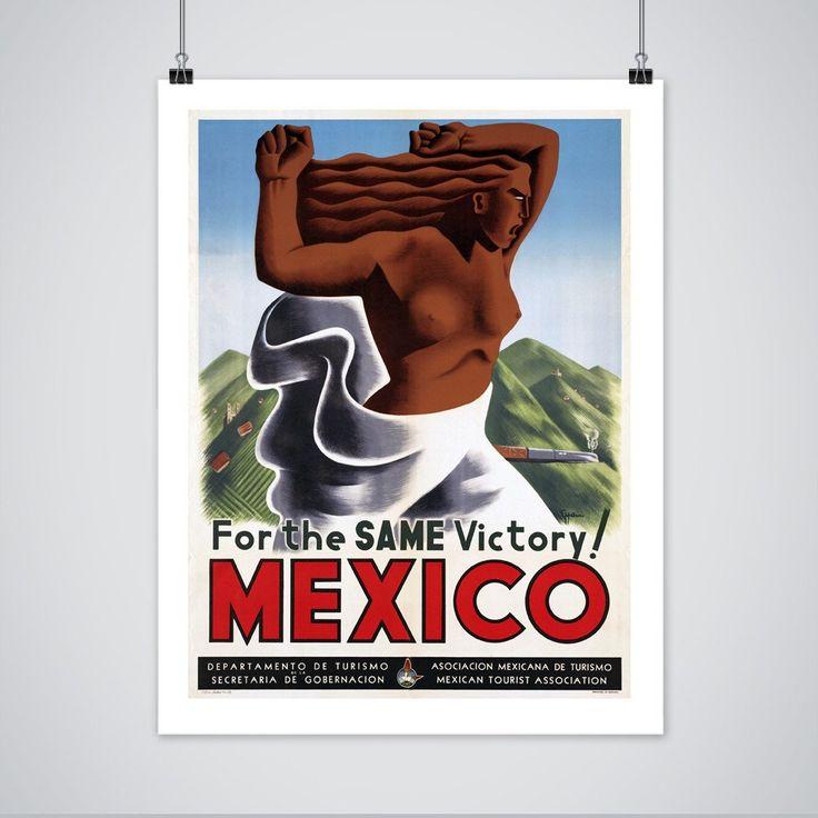 Mexico Tourism Poster - Vintage Travel Print