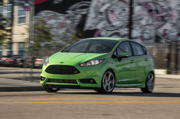 Love the green exterior... 2014 Ford Fiesta ST Front Three Quarters In Motion