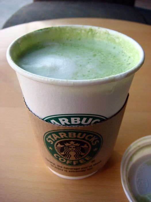 Starbucks Tazo Green Tea Latte HOT: Sweetened matcha green tea with steamed milk.