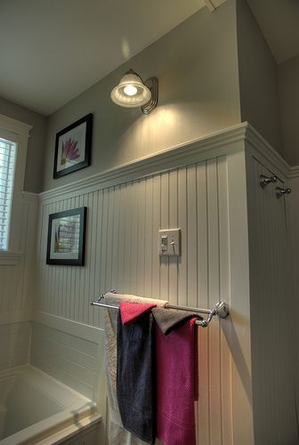 Our new Bathroom Hues of Grey, White and a touch of pink!  #CILserenity