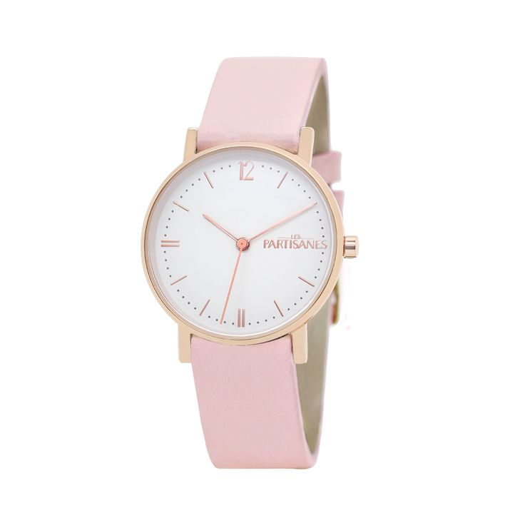 L'Audacieuse or rose, rose dragée. #lespartisanes #watch #womenwatch #paris #madeinfrance #lightpink