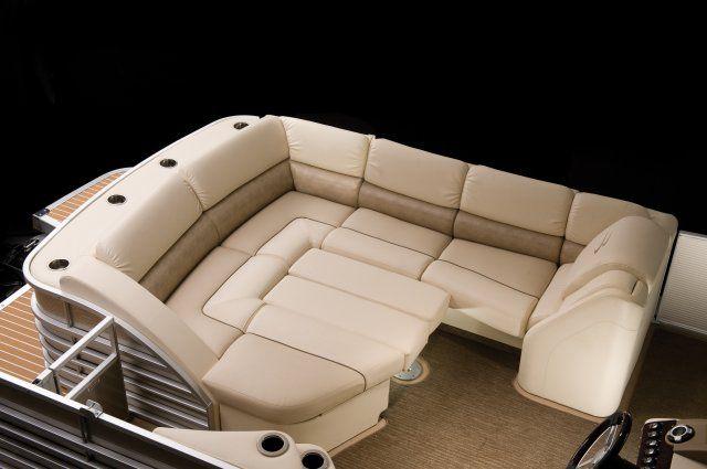 Image result for luxury pontoon furniture boat