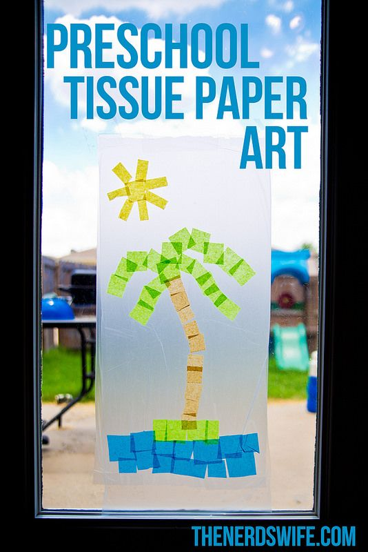 Preschool Tissue Paper Art featuring @gladproducts from @walmart! #pressnsealhacks #PMedia #ad