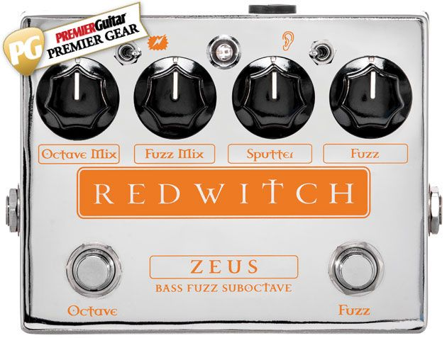 """It'll scare the paint off the wall.."" Premier Guitar's ‪‎review‬ where they give Red Witch Pedals' Zeus Bass Fuzz Suboctave a go and find out that it's worthy of PG ‪#‎GearAward‬ because it has two solid effects on tap, a jaw-dropping fuzz that gets even fiercer when blending in the suboctave effect, and come on, it's good looking! $299 Street."