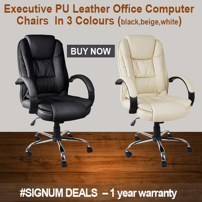 Do you want an Executive Pu Leather Office Chairs? Come at #SignumDeals and select your best office chairs in different colours and Save $10.