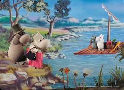 The Moomins - a stop motion animated children's TV series based on the Tove Jansson's Moomin series of books which was produced originally for Polish, Austrian and German TV. The series was later on sold to other countries including the UK. The British version was adapted by Anne Wood at FilmFair and first broadcast in the UK in 1983 and repeated again in 1986. Narrated by British actor Richard Murdoch. The opening theme tune was composed by Graeme Miller and Steve Shill.