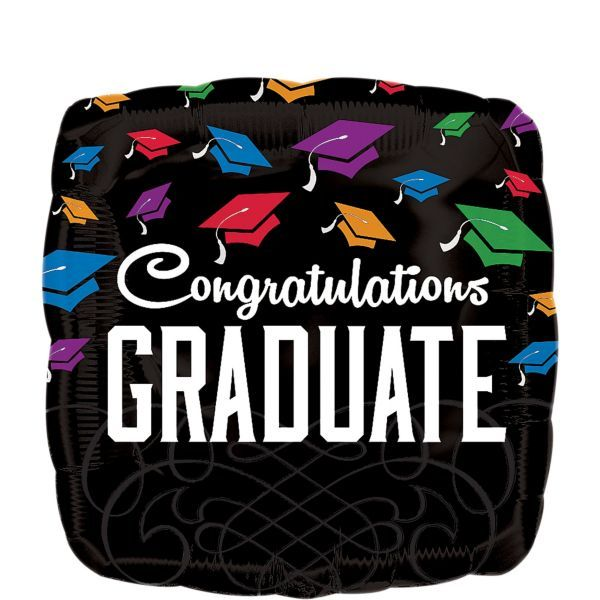 Graduation Balloon - Square Congratulations