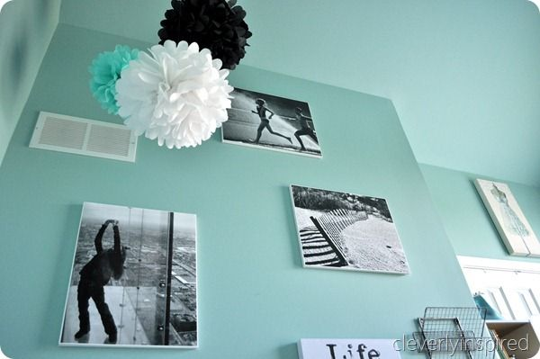 lots and lots of black white aqua decor ideas for girls room