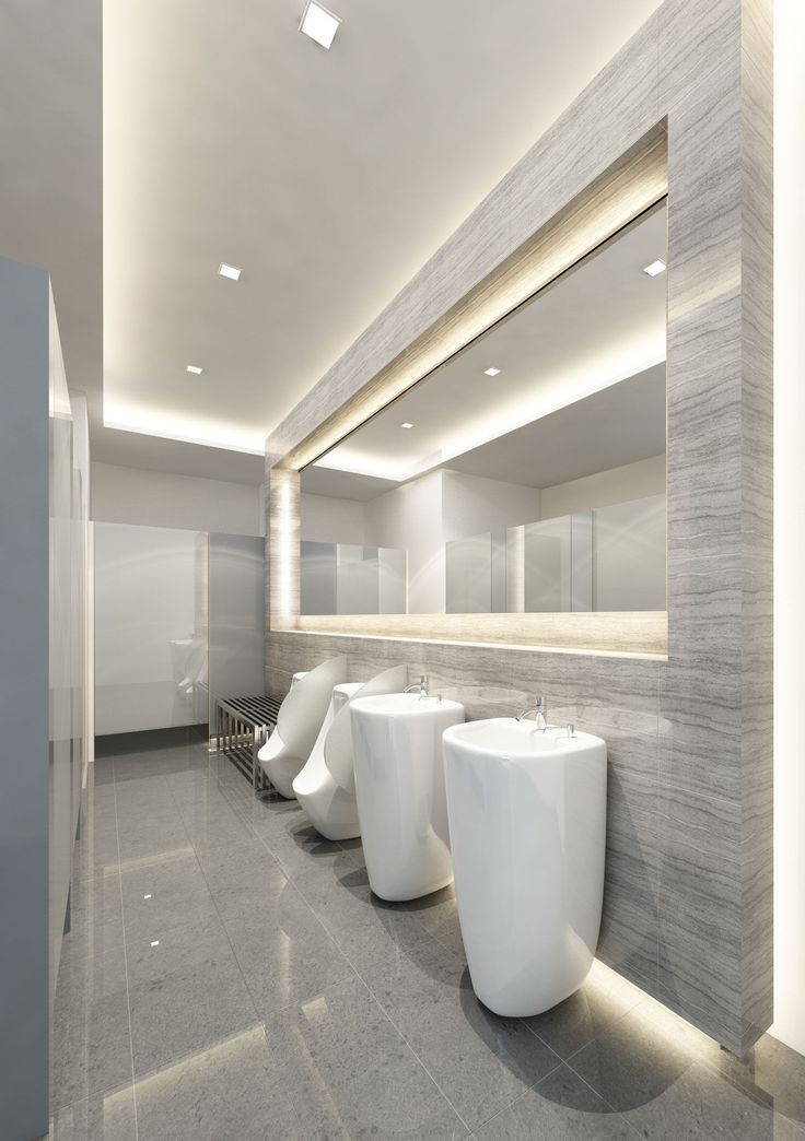 Marble bathroom public area pinteres for Toilet room decor