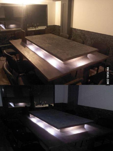 Custom Dnd Table With Grid And Hidden Lights