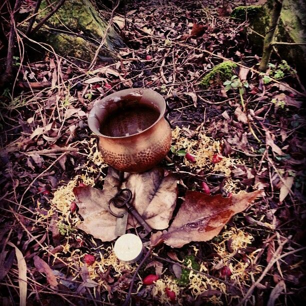 Rituals do not have to be grand and spectacular. It is about the intention you put into it that. This is a mini-circle to draw a house, a place of love and protection. And it worked!
