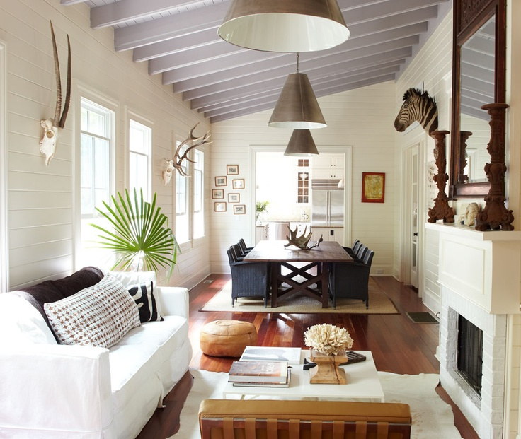 Living And Dining Room Combo: Minus The Animal Heads, This Layout Is Ideal For Making A