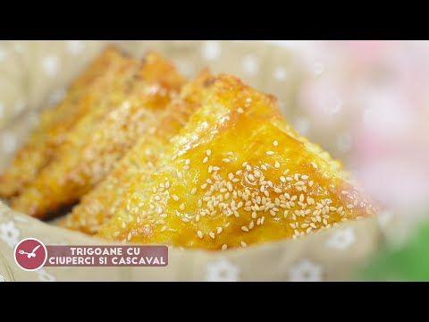 Reteta - Trigoane cu ciuperci si cascaval | Bucataras TV - YouTube