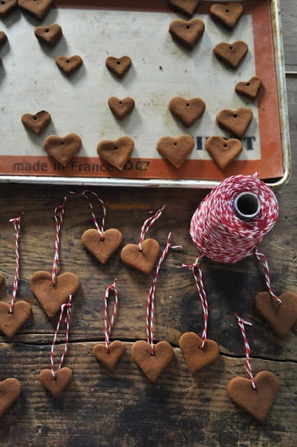 Use each heart to hold each letter of their name. Use red and green food coloring.
