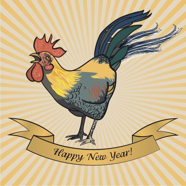 Просмотреть иллюстрацию С Новым годом Петуха! из сообщества русскоязычных художников автора Аркадий Казанцев в стилях: CG, нарисованная техниками: Векторная графика.