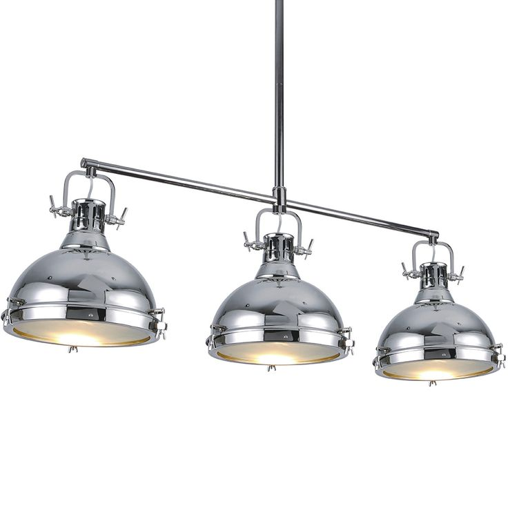 Chandelier Hanging Chrome Light Fixture Ceiling Three ...