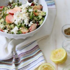 Red Grape and White Peach Tabbouleh Salad | Joy the Baker
