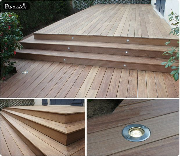 75 best Terrasse images on Pinterest Platform deck, Backyard decks - comment poser des lames de terrasse