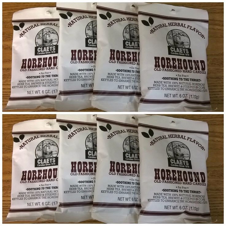 Claeys Horehound Old Fashioned Hard Candy 8 Pack 6Oz Bags Free Shipping