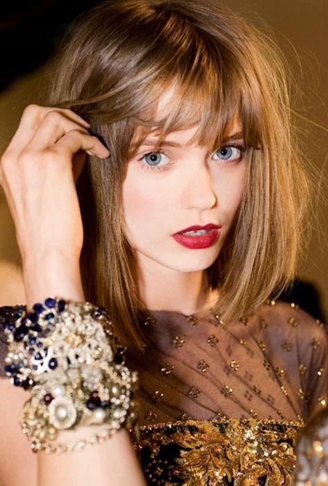 hairHair Colors, Shorts Hair, Shiny Hair, Hair Cut, Hair Makeup, Red Lips, Holiday Style, Long Bobs, Abbey Lee Kershaw