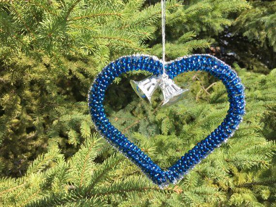 Royal Blue Handmade Christmas Ornament by UniqueWeddinCreation