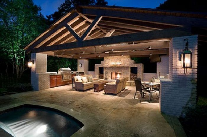 Outdoor Kitchen Designs With Beautiful View  http