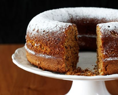 A lower-calorie version of a classic, this carrot bundt calls for raw cane sugar, raisins and an assortment of spices that give it enough flavor to serve frosting-free. #NationalCarrotCakeDay