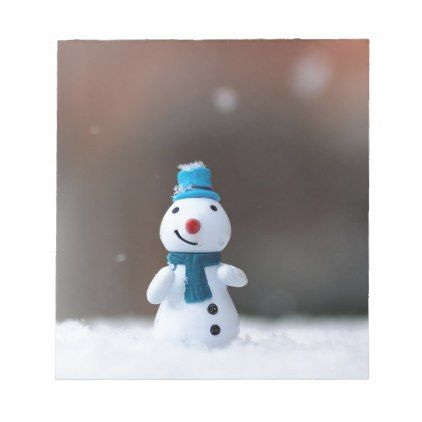 Winter Christmas Snow Toy Notepad - winter gifts style special unique gift ideas