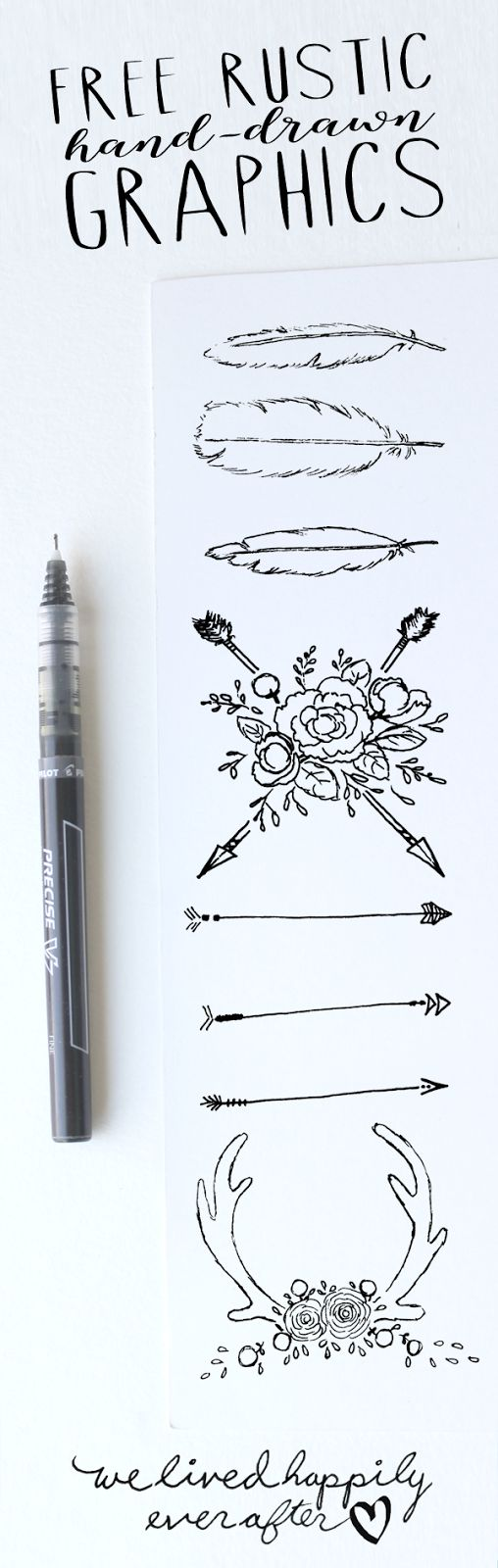 Free Rustic Hand-Drawn Graphics