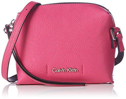 Calvin Klein Jeans JOYCE MINI CROSSOVER K60K601039 Damen Umhängetaschen 17x13x7 cm (B x H x T), Pink (PUNCH PINK/BLACK 905 905) - http://herrentaschenkaufen.de/calvin-klein-jeans/pink-punch-pink-black-905-905-calvin-klein-jeans-cm