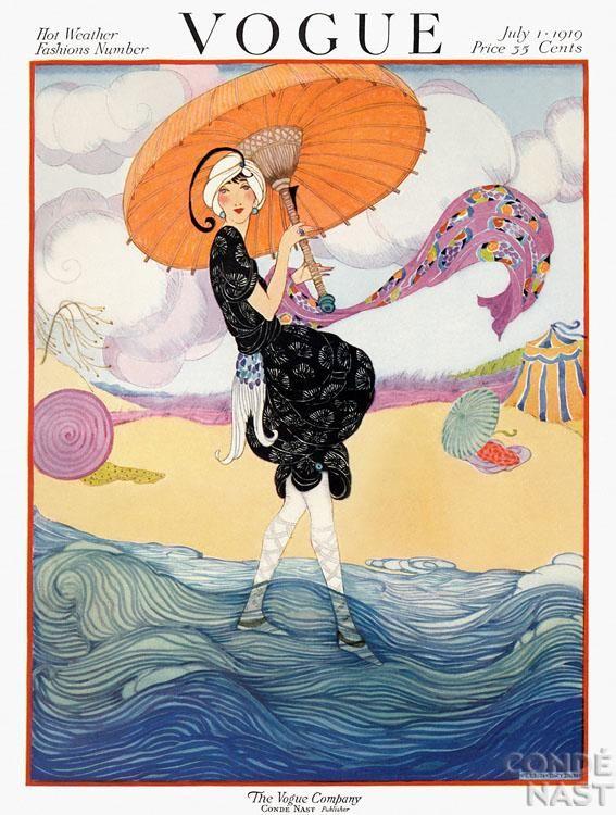 Vogue cover ~ by Helen Dryden Art Decó fashion illustrator ~ 1913