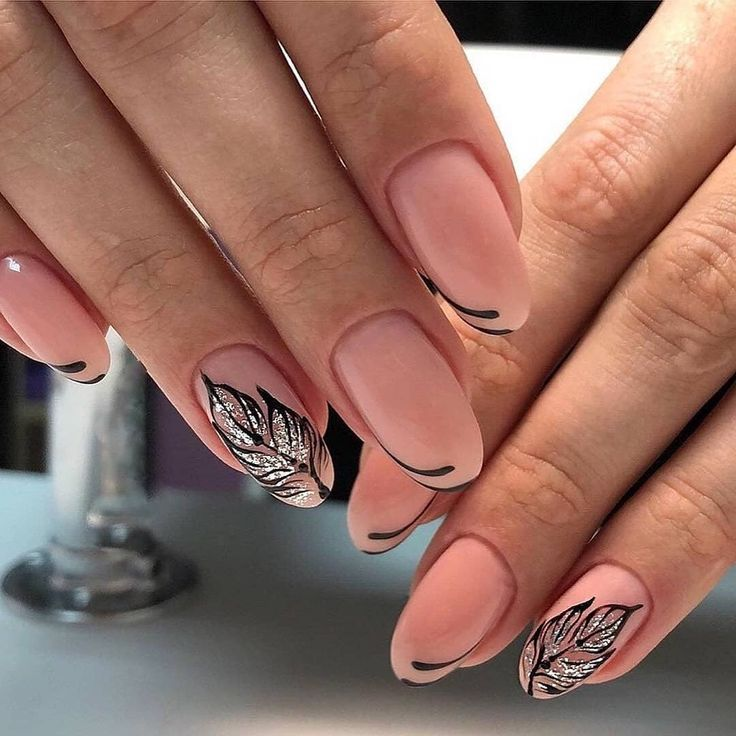 дизайн ногтей с перьями фото чаще