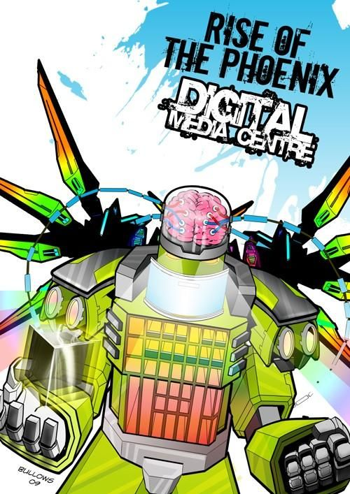 more transformers inspired fun for the councils new building launch.  #comic #illustration #digital #vector #photoshop #illustator #adobe #robot #mech