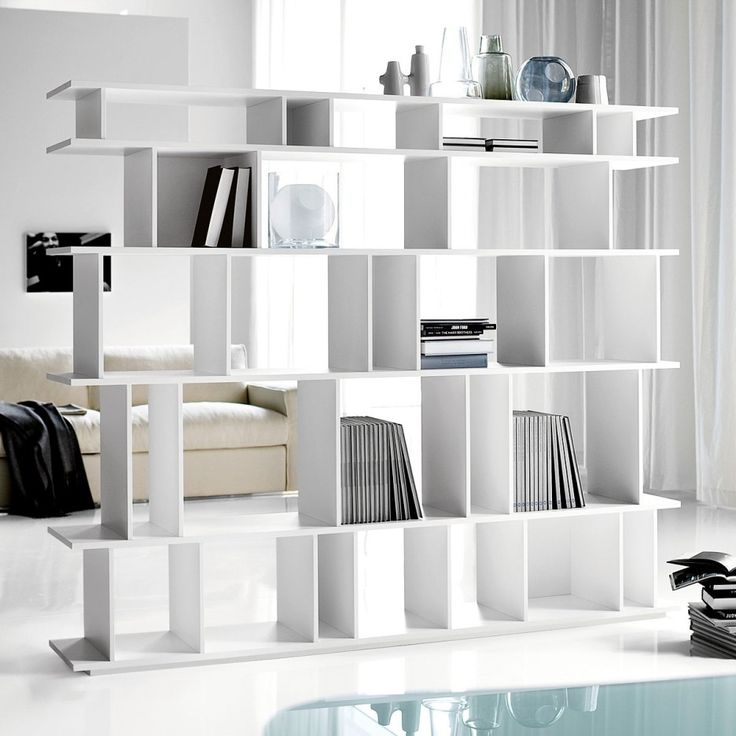 Great Picture Of Accessories For Home Interior Decoration Using Various Ikea Hanging Room Dividers : Fabulous Furniture For Modern White Living Room Decoration Using Modern White Bookshelf Ikea Hanging Room Divider Including All White Living Room Wall Paint And Modern White Leather Living Room Sofa