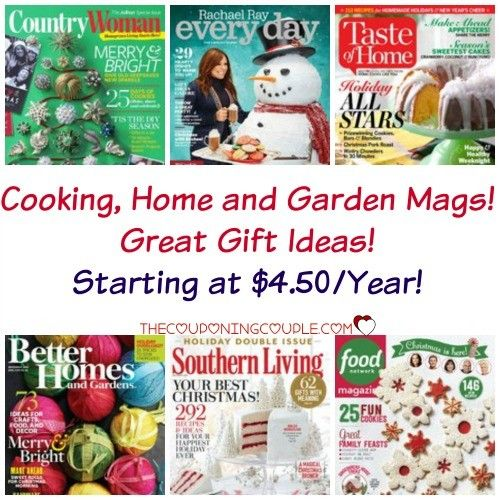What a great gift idea! Discount Mags has great magazines for the home! My all time fave is included! Taste of Home! So many great recipes! Check out Rachael Ray, Southern Living, Country Woman and more! Starting as low as $4.50!  Click the link below to get all of the details ► http://www.thecouponingcouple.com/discount-mags-cooking-home-and-garden-mags-starting-at-4-50/ #Coupons #Couponing #CouponCommunity  Visit us at http://www.thecouponingcouple.com for more grea
