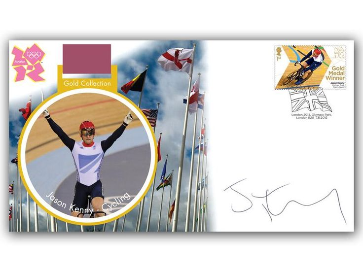 London 2012 Olympic Gold Medal Winners cover. Personally Autographed by Jason Kenny. Track Cycling