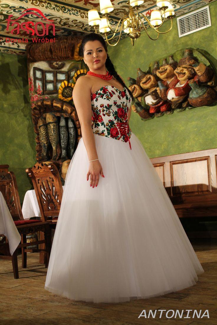 regional wedding dress, folk. regionalne suknie ślubne, podhalanka #folk