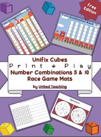 Free Unifix Cubes Print Amp Play Number Combinations 5 Amp 10