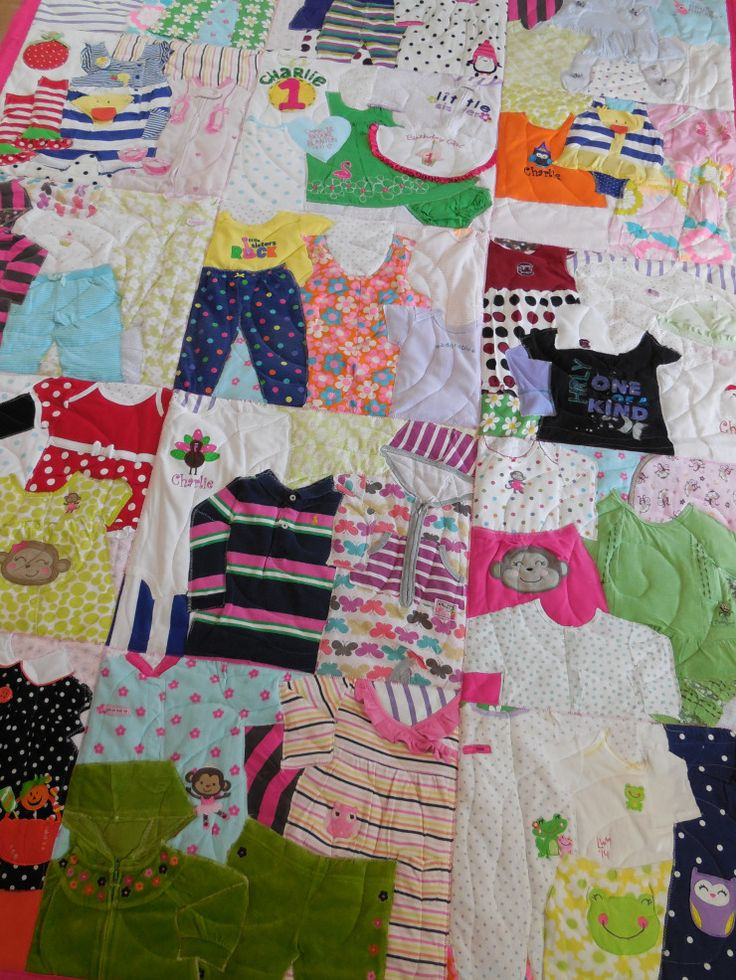 First Year Quilts tie in all of those precious outfits your *little* wore during that first special year here with you…  …the 'take home' outfit, the first trip to the beach…