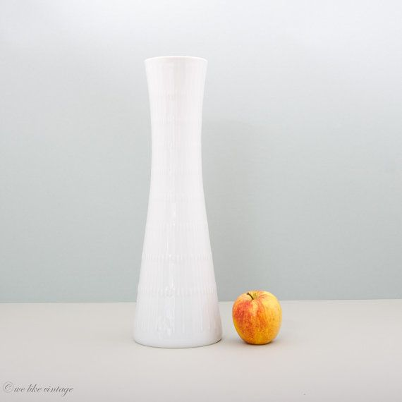 Large Vase White Porcelain by Hutschenreuther by WeLikeVintage