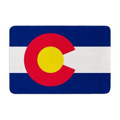 KESS InHouse Bruce Stanfield Flag of Colorado II Memory Foam Bath Mat - BS1021ABM01, Durable